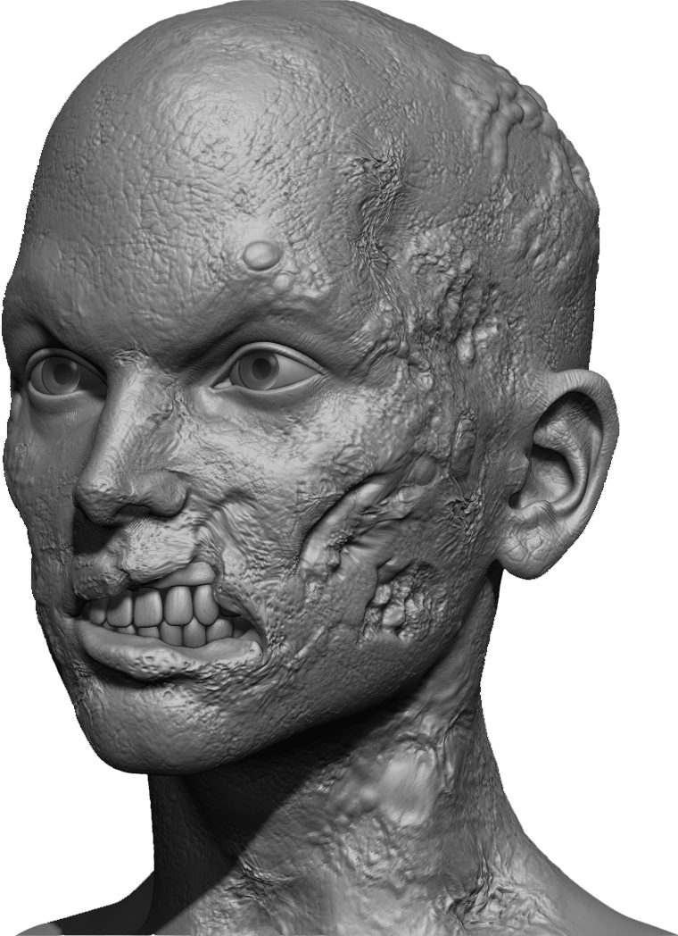 Zombie Skin Effect Using the VDM Brushes and Alphas