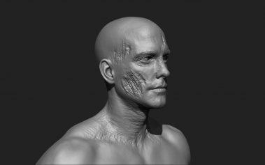 Zombie Skin Cheek 1